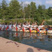 GODYO Drachenboot-Sprint Team auf dem Weg zum Finale