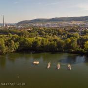 GODYO Drachenboot-Sprint Luftaufnahme Schleichersee