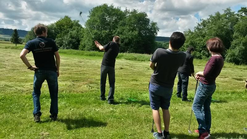 Cross-Golfen beim GODYO Team-Event
