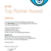 GODYO 2008 HP Top Partner Award 2008